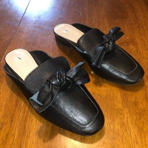 Bp Black Leather Slip ons